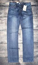 L32 Stonewashede Herren-Straight-cut-niet(en)hose aus Baumwolle