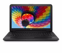 """New HP 15.6"""" 4GB 500GB Quad Core Win 10 DVD Drive HD Vibrant Display WiFi Black"""