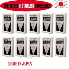 100 FEATHER MADE IN JAPAN Hi-Stainless Platinum Double Edge  Blades