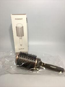 FIXBODY Boar Bristles Nano Tech Ceramic + Ionic Round Hair Brush 3.3 inches New