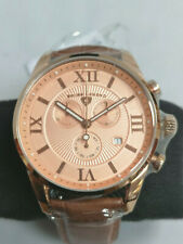 Swiss Legend Bellezza Brown Chronograph Watch Alligator Leather Crystal NEW C685