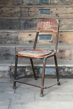 industrial brown metal wood chairs - urban wood chairs - industrial design -