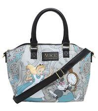 Disney Alice In Wonderland Purse Rabbit Hole Clocks Satchel Hand Bag