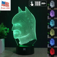 Batman 3D Acrylic LED Touch Night Light 7 Color Touch Desk Table Lamp Kid Gifts