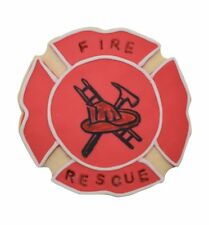 "Fire Badge Plaque Cookie Cutter  4.25"" Fondant Party Bake  Fireman Designer"