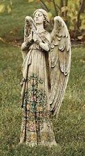 "24""H Praying Angel Rose Skirt Outdoor Garden Statue Joseph's Studio # 29011"