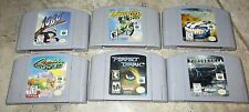Lot of 6 Nintendo 64 Games Top Gear Snowboarding Perfect Dark Crusin Excitebike