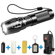 BYBLIGHT Rechargeable LED Torch, Super Bright 800 Lumen Adjustable Focus Tact...