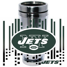 NY New York Jets Logo Travel Mug Tumbler Stainless Steel NEW Clear Insert