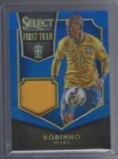2015 Panini Select Soccer Robinho Worn Jersey Relic Blue Prizm #/99 Brazil
