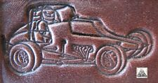 Dirt Track Race Car With Handle Hole Embossing Plate Leather Stamp #1