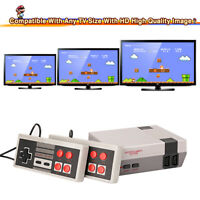 Mini Entertainment Game Console W/ 620 Nintendo 2 Games Controllers Play Fun Hot