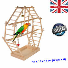 Bird Pet Playground Play Stand Activity Centre Budgies Parrots Perch Bell Swing