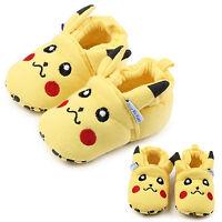 Newborn Unisex Boy Girl Pikachu Cartoon Soft Sole Prewalker Trainers Crib Shoes