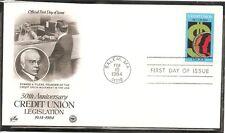 US SC # 2075 Credit Union  Act of 1934 FDC, Postal Commemorative Society Cachet