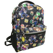 "Backpack Nintendo Switch Super Mario Yoshi Video game Gamer 16"" Traveler Bag New"