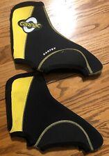 Carnac Cartex Overshoes Booties Size 6 Heavy Duty Yellow Black