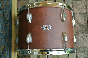 """70s SLINGERLAND 13"""" SOUND KING TOM in FAUX LEATHER BROWN for YOUR DRUM SET! M804"""