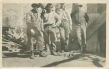 C-1910 Workers Crew Occupation RPPC real photo postcard 12717