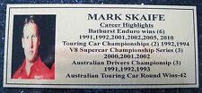 MARK SKAIFE Gold Sublimated Plaque FREE POSTAGE