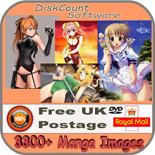 Sexy Manga Pin Up Over 3300 images Art & Craft / Card etc. CD Great fun