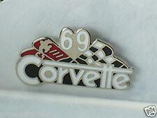 1969 Corvette Pin , Lapel Pin , Hat Tack , (**)