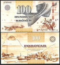 FAEROE ISLANDS 100 Kronur 2011 ( 2012 ) UNC P 30
