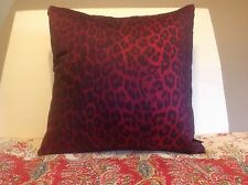 New Aviva Stanoff Red Animal Print 20 X 20 throw pillow Made in USA casing ONLY
