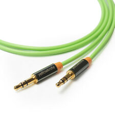 High End 3.5mm Aux Audio Cable M/M GOLD for MP3 Apple iPhone iPod 1M Green