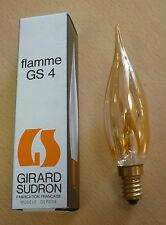 GIRARD sudron Lámpara de velas Llama GS4 E14 40w Ámbar ORO Bombilla Vela