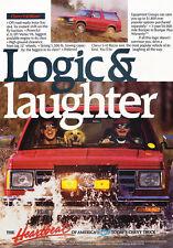 1989 Chevrolet S-10 Blazer Logic Laugh- Original Car Advertisement Print Ad J174