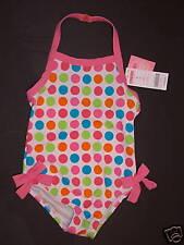 NWT Gymboree Spring Rainbow Polka Dot Swimsuit 12-18 M