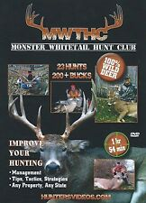 Monster Whitetail Hunt Club DVD  New Release 100% Wild Deer Hunting