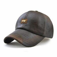 Faux Leather Men's Winter Baseball Caps