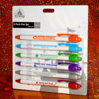 DISNEY ATTRACTIONS BUSINESS PENS pen set haunted mansion tiki room peoplemover