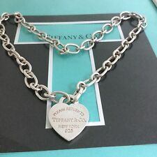 """New Tiffany & Co. Clasping Linking Chain Necklace  18"""" Long End Links Open Close"""
