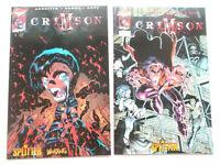 CRIMSON Heft 1 + 2 komplett Buchhandelsausgabe Variant Cover ( Splitter ) NEU