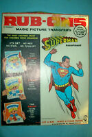 Vintage 1964 Superman Rub-Ons Magic Picture Transfers by Hasbro    Free Shipping