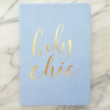NEW Blank Journal HOLY CHIC Inspiring BLUE Diary By Eccolo PERIWINKLE