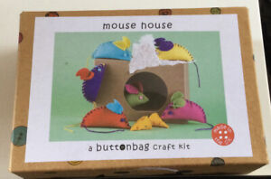 Buttonbag  Craft Kit, Mouse House, Makes 6 Mice And 2 Pieces Of Cheese Brand New