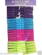 SET 40 PINCE A LINGE COLOREES 7 CM PVC MENAGE
