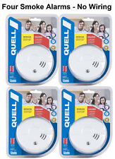 Quell Photoelectric Smoke Alarm No Wires DIY 2 Alarms 10yr Saves Lives
