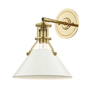 Hudson Valley  MDS350 AGB/OW  One Light Wall Sconce  Painted No.2