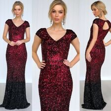 Gorgeous Size 14 Sequins Ball Gown Formal Party Wear Evening Wedding