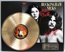 "Buckingham Nicks GOLD LP REPRODUCTION SIGNATURE DISPLAY ""M4"""