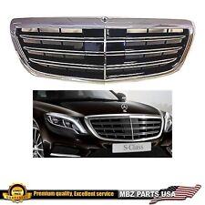 S65 S63 Grille S-Class S550 Black Chrome AMG MAYBACH S600 2015 2016 2017 2018