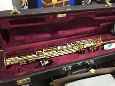 BUFFET CRAMPONA A PARIS SOPRANO SAXAPHONE WITH LEATHER CASE COMPLETE