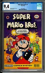 Super Mario Bros. #5 (Valiant, 1990) CGC 9.4 White!! Nintendo!
