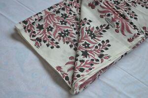 Floral Craft Indian Handmade Hand block Print Cotton Fabric 50 Yard Print_1202