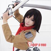 Attack on Titan Mikasa Ackerman cosplay wig wig